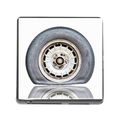 Flat Tire Vehicle Wear Street Memory Card Reader (square) by Nexatart