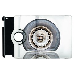 Flat Tire Vehicle Wear Street Apple Ipad 2 Flip 360 Case by Nexatart