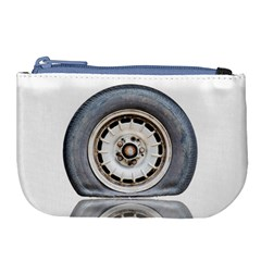 Flat Tire Vehicle Wear Street Large Coin Purse by Nexatart