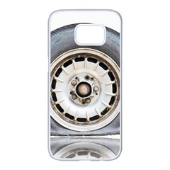 Flat Tire Vehicle Wear Street Samsung Galaxy S7 Edge White Seamless Case by Nexatart