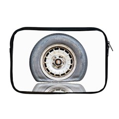 Flat Tire Vehicle Wear Street Apple Macbook Pro 17  Zipper Case by Nexatart