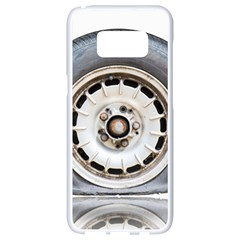 Flat Tire Vehicle Wear Street Samsung Galaxy S8 White Seamless Case
