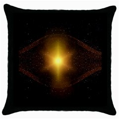 Background Christmas Star Advent Throw Pillow Case (black) by Nexatart