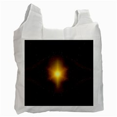 Background Christmas Star Advent Recycle Bag (one Side) by Nexatart