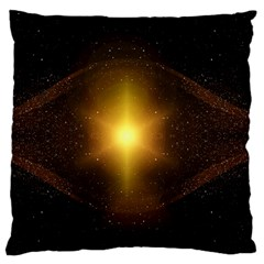 Background Christmas Star Advent Large Cushion Case (one Side) by Nexatart