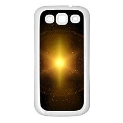 Background Christmas Star Advent Samsung Galaxy S3 Back Case (white) by Nexatart