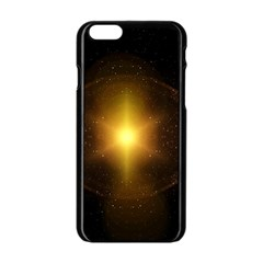 Background Christmas Star Advent Apple Iphone 6/6s Black Enamel Case by Nexatart