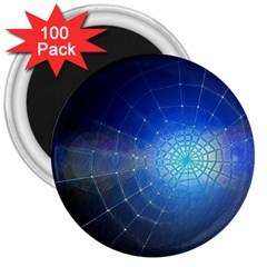 Network Cobweb Networking Bill 3  Magnets (100 Pack) by Nexatart