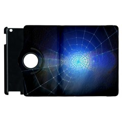 Network Cobweb Networking Bill Apple Ipad 3/4 Flip 360 Case