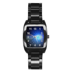 Network Cobweb Networking Bill Stainless Steel Barrel Watch by Nexatart