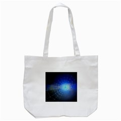 Network Cobweb Networking Bill Tote Bag (white) by Nexatart