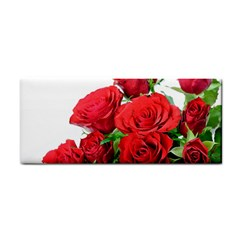 A Bouquet Of Roses On A White Background Cosmetic Storage Cases by Nexatart