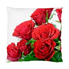 A Bouquet Of Roses On A White Background Standard Cushion Case (one Side) by Nexatart