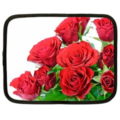 A Bouquet Of Roses On A White Background Netbook Case (xxl)  by Nexatart