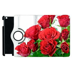 A Bouquet Of Roses On A White Background Apple Ipad 3/4 Flip 360 Case