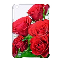 A Bouquet Of Roses On A White Background Apple Ipad Mini Hardshell Case (compatible With Smart Cover) by Nexatart