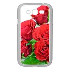 A Bouquet Of Roses On A White Background Samsung Galaxy Grand Duos I9082 Case (white) by Nexatart