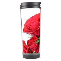 A Bouquet Of Roses On A White Background Travel Tumbler by Nexatart