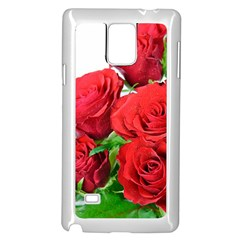 A Bouquet Of Roses On A White Background Samsung Galaxy Note 4 Case (white) by Nexatart