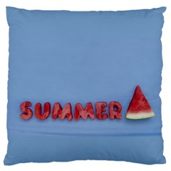 Summer Watermellon Large Cushion Case (two Sides) by PhotoThisxyz