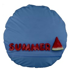 Summer Watermellon Large 18  Premium Round Cushions by PhotoThisxyz