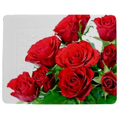 A Bouquet Of Roses On A White Background Jigsaw Puzzle Photo Stand (rectangular) by Nexatart
