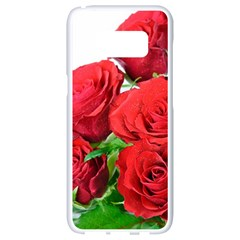 A Bouquet Of Roses On A White Background Samsung Galaxy S8 White Seamless Case by Nexatart