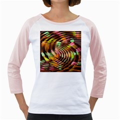 Wave Rings Circle Abstract Girly Raglans by Nexatart