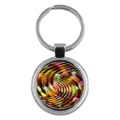 Wave Rings Circle Abstract Key Chains (round)  by Nexatart