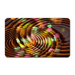Wave Rings Circle Abstract Magnet (rectangular) by Nexatart