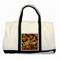 Wave Rings Circle Abstract Two Tone Tote Bag by Nexatart