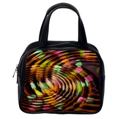 Wave Rings Circle Abstract Classic Handbags (one Side) by Nexatart