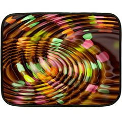 Wave Rings Circle Abstract Double Sided Fleece Blanket (mini)