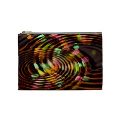 Wave Rings Circle Abstract Cosmetic Bag (medium)  by Nexatart