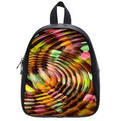 Wave Rings Circle Abstract School Bags (small)