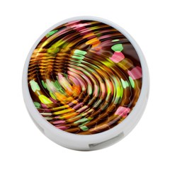 Wave Rings Circle Abstract 4 Port Usb Hub (two Sides)  by Nexatart