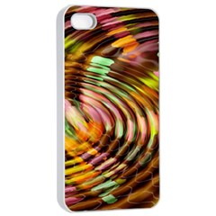 Wave Rings Circle Abstract Apple Iphone 4/4s Seamless Case (white)