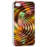 Wave Rings Circle Abstract Apple iPhone 4/4s Seamless Case (White) Front