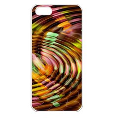 Wave Rings Circle Abstract Apple Iphone 5 Seamless Case (white)
