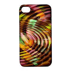 Wave Rings Circle Abstract Apple Iphone 4/4s Hardshell Case With Stand by Nexatart