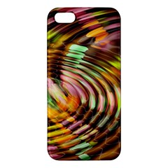 Wave Rings Circle Abstract Apple Iphone 5 Premium Hardshell Case