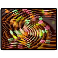 Wave Rings Circle Abstract Double Sided Fleece Blanket (large)  by Nexatart