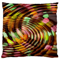 Wave Rings Circle Abstract Large Flano Cushion Case (two Sides) by Nexatart