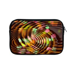 Wave Rings Circle Abstract Apple Macbook Pro 13  Zipper Case by Nexatart
