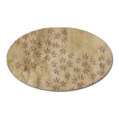 Parchment Paper Old Leaves Leaf Oval Magnet by Nexatart
