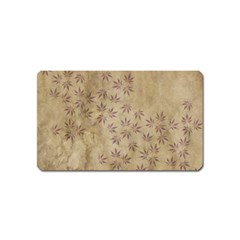 Parchment Paper Old Leaves Leaf Magnet (name Card) by Nexatart