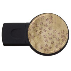 Parchment Paper Old Leaves Leaf Usb Flash Drive Round (4 Gb) by Nexatart