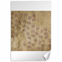 Parchment Paper Old Leaves Leaf Canvas 24  X 36  by Nexatart