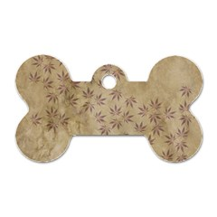 Parchment Paper Old Leaves Leaf Dog Tag Bone (two Sides) by Nexatart