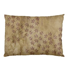 Parchment Paper Old Leaves Leaf Pillow Case by Nexatart